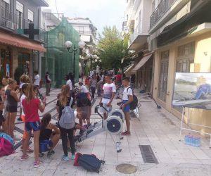 Θεσπρωτία: Τράβηξαν…κουπί οι αθλητές του ΔΝΟΗ στον Πεζόδρομο Ηγουμενίτσας (+ΦΩΤΟ)