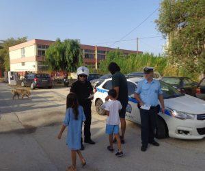 Θεσπρωτία: Ενημερωτικά φυλλάδια τροχονόμων σε μαθητές δημοτικών σχολείων στην Ηγουμενίτσα