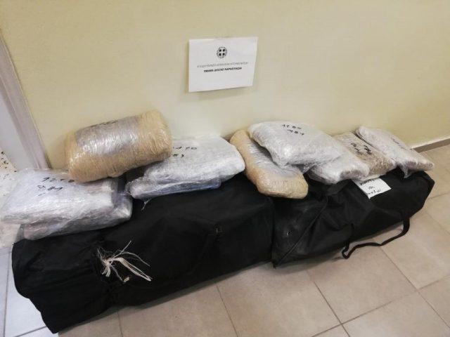 Θεσπρωτία: Κατασχέθηκαν περισσότερα από 48 κιλά κάνναβης στη Νεράϊδα-Συνελήφθησαν 2 αλλοδαποί