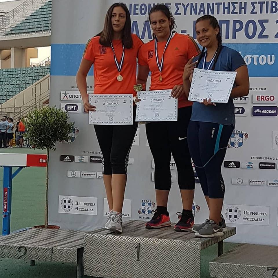 Θεσπρωτία: Ασημένιο μετάλλια στην σφαιροβολία σε διεθνή αγώνα για την αθλήτρια του Πρωτέα Έλενα Μπασιάκου