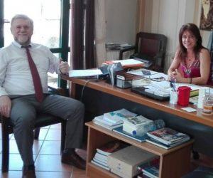 Θεσπρωτία: Ενημερωτική συνάντηση του νεοεκλεγμένου δημάρχου Γιάννη Καραγιάννη με την δήμαρχο Σταυρούλα Μπραΐμη