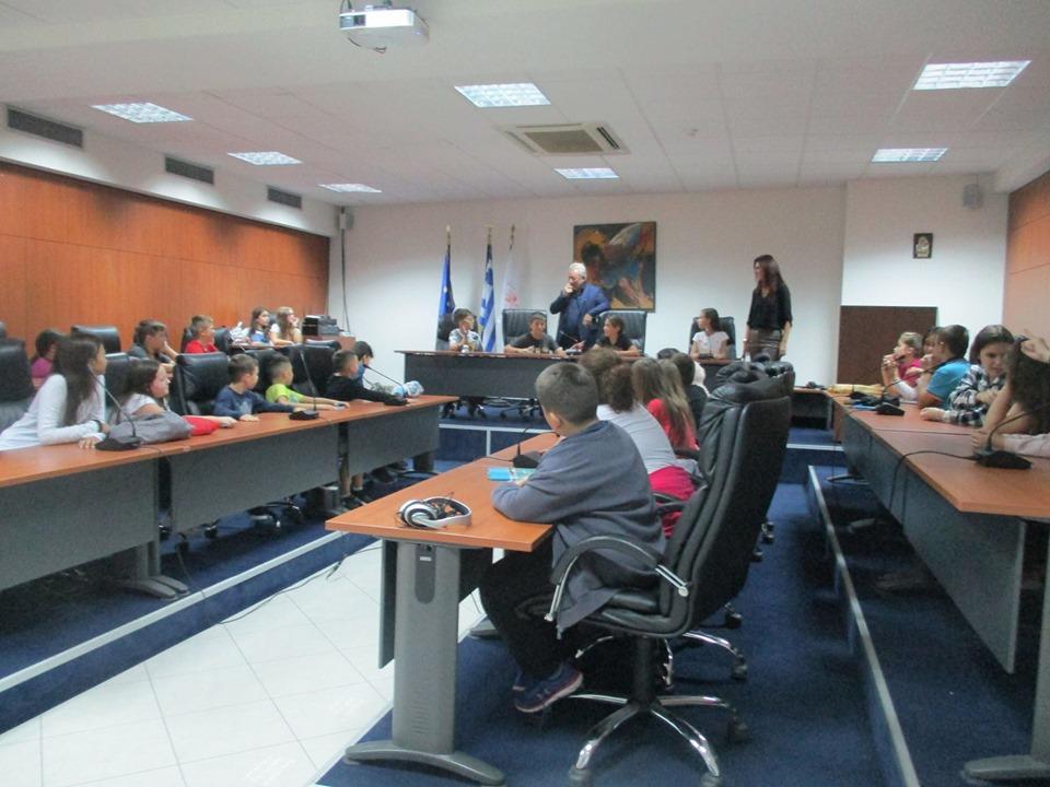 ΄Ηγουμενίτσα: Μαθητές του 4ου Δημοτικού Σχολείου Ηγουμενίτσας επισκέφθηκαν τον Δήμαρχο Γιάννη Λώλο